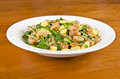 Plateful gnocchi rapini italian sausages crimini mushrooms onion Stock Image