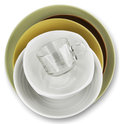 Plates bowl  on a white background Royalty Free Stock Photo