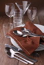 Plates,cutlery and glasses Stock Image