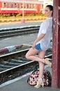 On platform Royalty Free Stock Photo