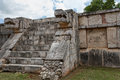 Platform of eagles and jaguars chichen itza mexico Stock Image