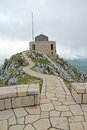 Platform on the lovcen mountain in montenegro viewpoint Royalty Free Stock Photos