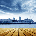 Platform beside sea Royalty Free Stock Images