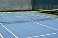 Platform tennis court a blue and green Stock Images