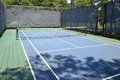 Platform tennis court a blue and green Royalty Free Stock Photos