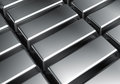 Platinum bars Royalty Free Stock Images