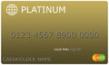 Platinum gold Credit Card Royalty Free Stock Photo