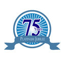 Platinum jubilee celebrations on blue background Royalty Free Stock Image