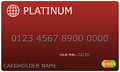 Platinum red Credit Card Royalty Free Stock Photo