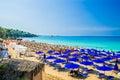 Platis Gialos and Makris Gialos Beach, Kefalonia island, Greece