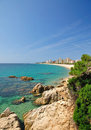 Platja d`Aro,Costa Brava Royalty Free Stock Photo