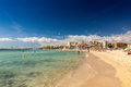 Platja de palma beach mallorca balearic islands spain Royalty Free Stock Photography