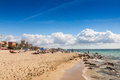 Platja de palma beach mallorca balearic islands spain Royalty Free Stock Photos