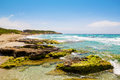 Platja de sant tomas beach at menorca island balearic islands spain Royalty Free Stock Photo