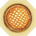Plato de madera con la empanada del queso Fotografía de archivo libre de regalías
