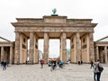 Platz des marz and brandenburg gate berlin germany october in berlin on october the were built by carl gotthard langhans in Stock Photos