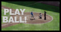 Play ball on baseball jumbotron screen effect with the words Stock Image
