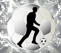 Play black and white football Stock Image