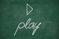 Play on blackboard written with chalk Royalty Free Stock Photo
