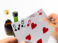 Play card playcard away bet gamble gambling playcard poker wager dealer of playing cards Royalty Free Stock Photos