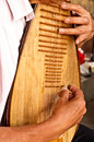 Play Chinese musical instrument pipa Royalty Free Stock Photo