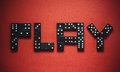 Play Dominoes Royalty Free Stock Photo
