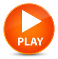 Play elegant orange round button