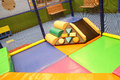 Play equipment abstract photograph featuring childrens at a fast food restaurant Royalty Free Stock Photos