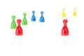 Play a game with the meeples let us Royalty Free Stock Images