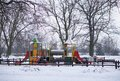 Play ground snow winter Stock Photography