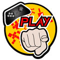 Play icon Stock Images