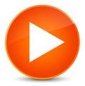 Play icon elegant orange round button