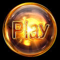 Play icon glass.