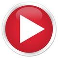 Play icon premium red round button