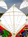Play kites at sanam luang in thailand Royalty Free Stock Images
