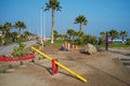 Play park on the coast brightly coloured playground sea front of antofagasta in atacama region of chile Royalty Free Stock Photos