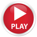 Play premium red round button