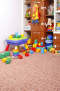 Play room with many toys Royalty Free Stock Images