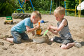Play in the sandbox Stock Photo