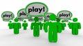 Play Speech Bubble People Fun Recreation Word