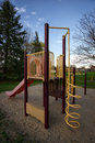 Play structure at public park a childrens or jungle gym a or playground Stock Image