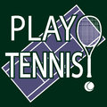 Play tennis illustration as a sport greenpurple background Stock Photos