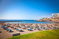 Playa de bobo in costa adeje tenerife spain on Royalty Free Stock Photo