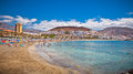 Playa de la vistas beach tenerife canaries Stock Photography