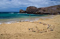 Playa de papagayo beach famous for its blue water lanzarote island Stock Image