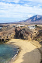 Playa de papagayo parrot s beach on lanzarote canary islands spain Royalty Free Stock Image