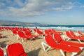 Playa del Ingles beach. Maspalomas. Gran Canaria Royalty Free Stock Photo