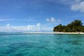 Playa en Saipan Imágenes de archivo libres de regalías