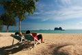 Playa hermosa en tailandia Fotografía de archivo