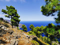 Playas hierro island las cliffs and beach on canary islands spain Stock Photo